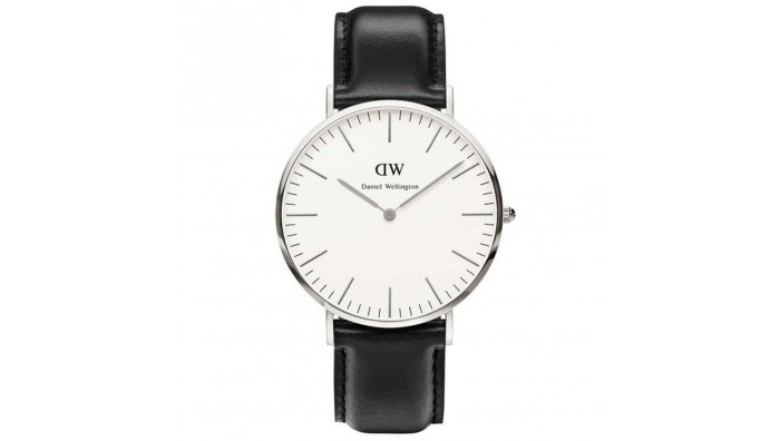 Daniel Wellington Herreur Sheffield  med sort læderrem - 0206DW