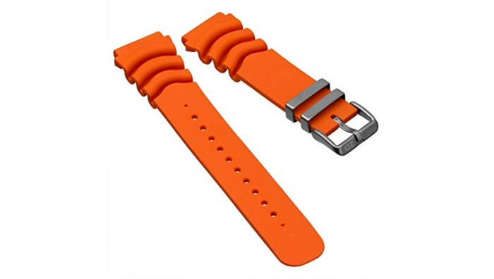 Klassisk Diver Gummi Urrem – 22 mm.  - Orange