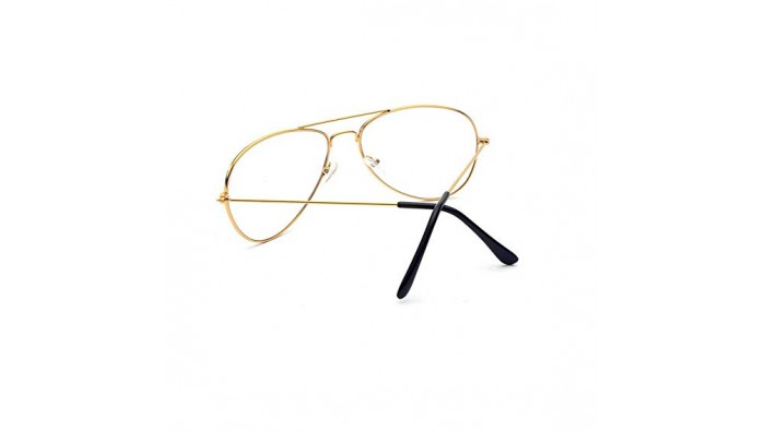 Aviator Blogger Brille – Vintage Design – Guld/Sort