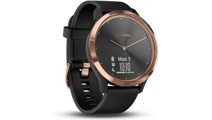 Garmin Vivomove HR Sportsur - Rosa Guld/Sort